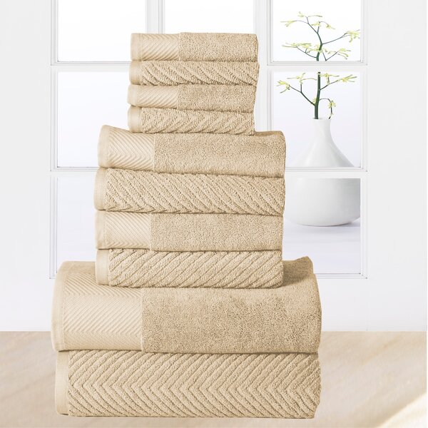 Woolf 10 Piece 100% Cotton Towel Set by The Twillery Co.